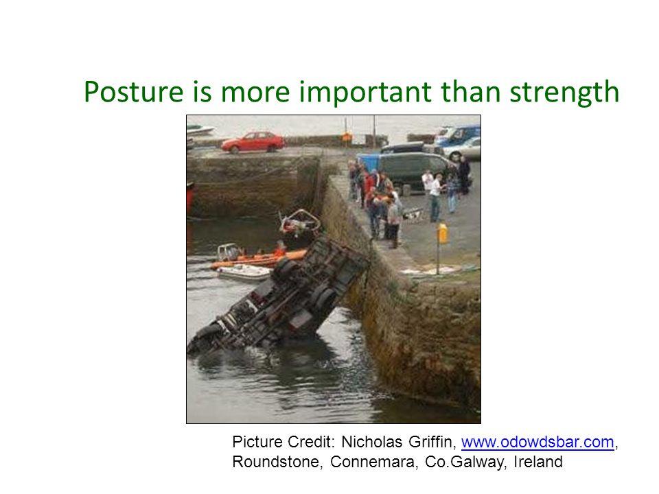 Posture is more important than strength Picture Credit: Nicholas Griffin, www.odowdsbar.com,www.odowdsbar.com Roundstone, Connemara, Co.Galway, Ireland