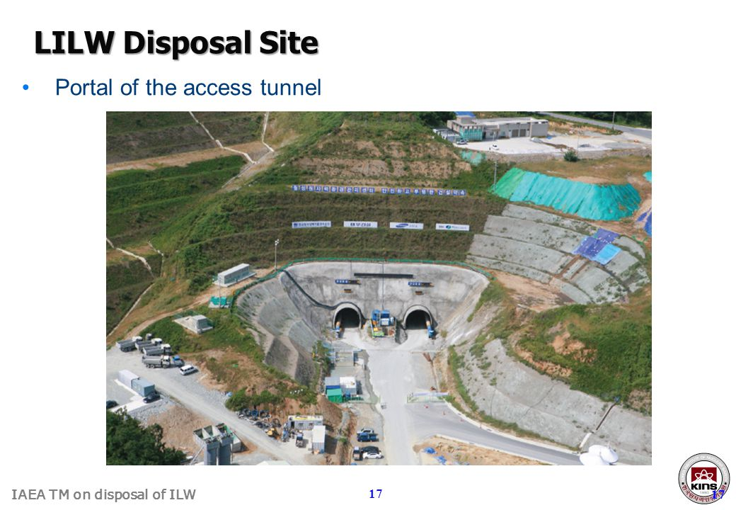IAEA TM on disposal of ILW 17 Portal of the access tunnel LILW Disposal Site 17