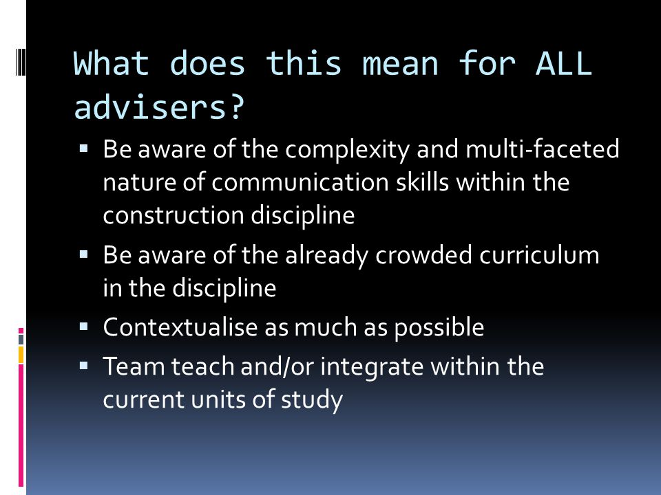 What does this mean for ALL advisers.