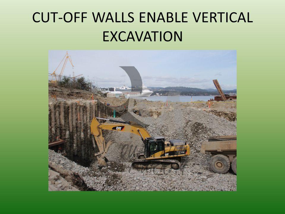 CUT-OFF WALLS ENABLE VERTICAL EXCAVATION