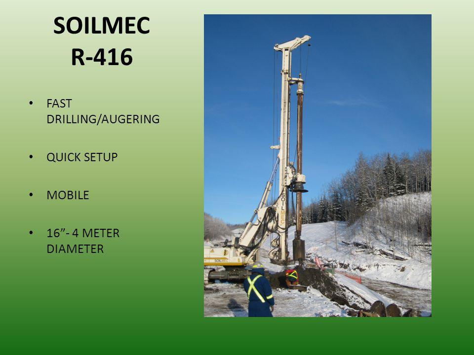 SOILMEC R-416 FAST DRILLING/AUGERING QUICK SETUP MOBILE 16- 4 METER DIAMETER