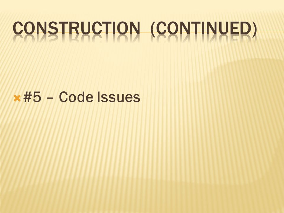 #5 – Code Issues