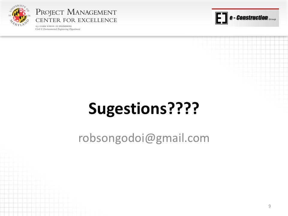 Sugestions robsongodoi@gmail.com 9