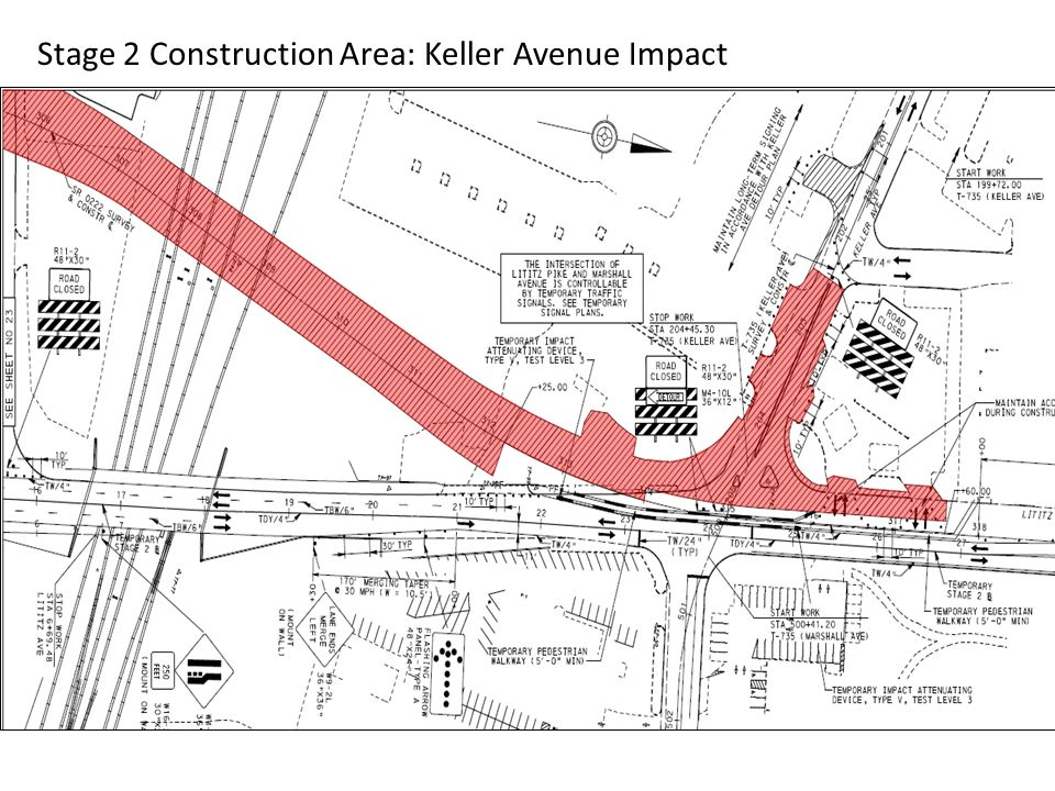 Stage 2 Construction Detour: Keller Ave Detour McGovern Ave.