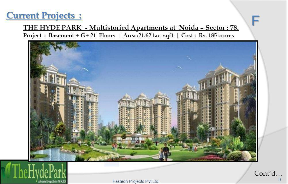 F Current Projects : F THE HYDE PARK - Multistoried Apartments at Noida – Sector : 78.