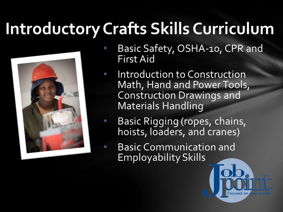 12 weeks + 4-week Core Curriculum (16 weeks total) Optional paid internship Average starting salary: $23,000-$26,000 26% growth through 2020 Intermediate Construction Trades (ICT)