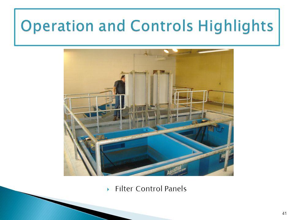 Filter Control Panels 41