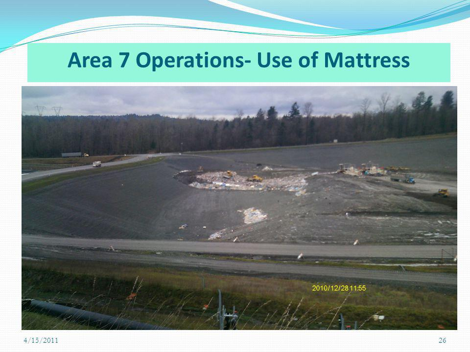 Area 7 Operations- Use of Mattress 4/15/201126