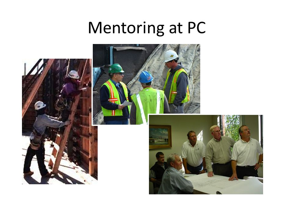 PCs Formal Mentoring Program Initiated from the top Pilot program – Begin with Executives as mentors – Mentors assigned to high-potentials in different branches of the organizational tree – Limited time period – Review at the end