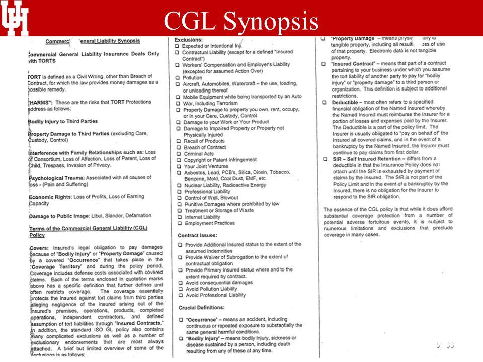 CGL Synopsis 5 - 33