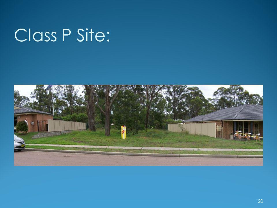 Class P Site: 20