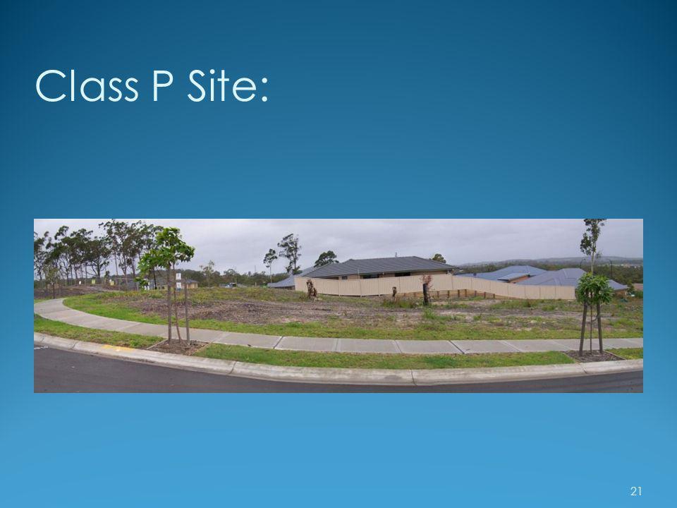 Class P Site: 21