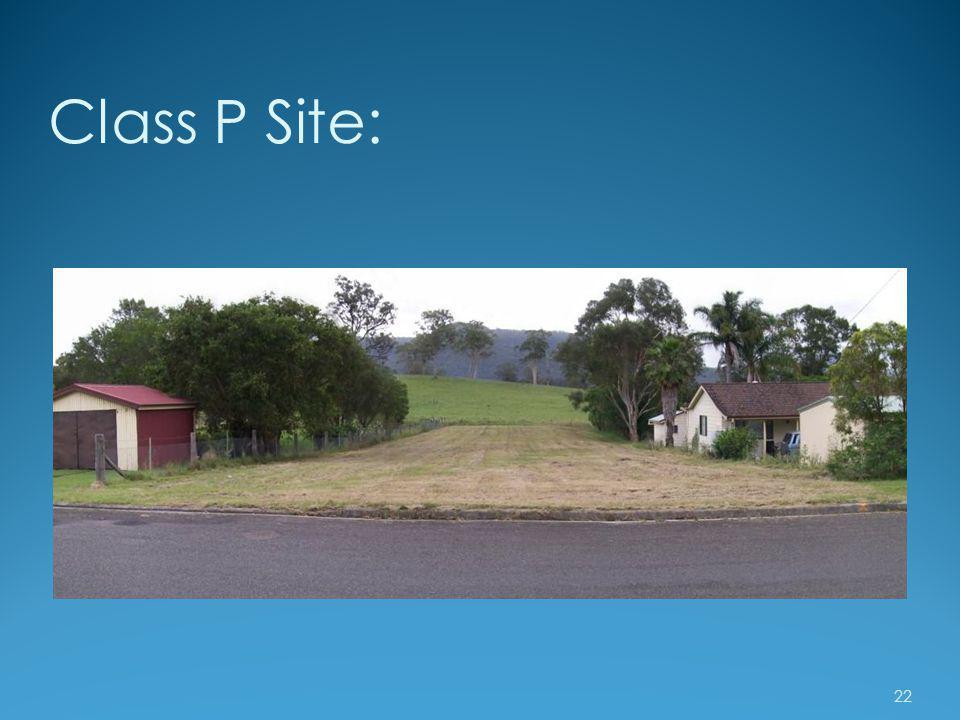 Class P Site: 22