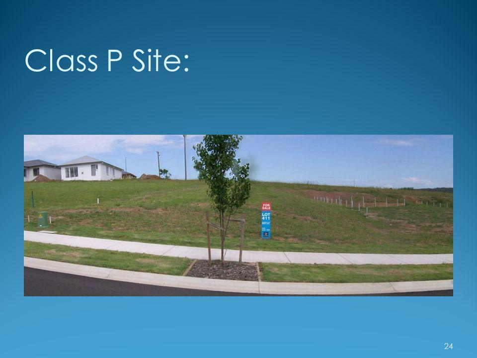 Class P Site: 24