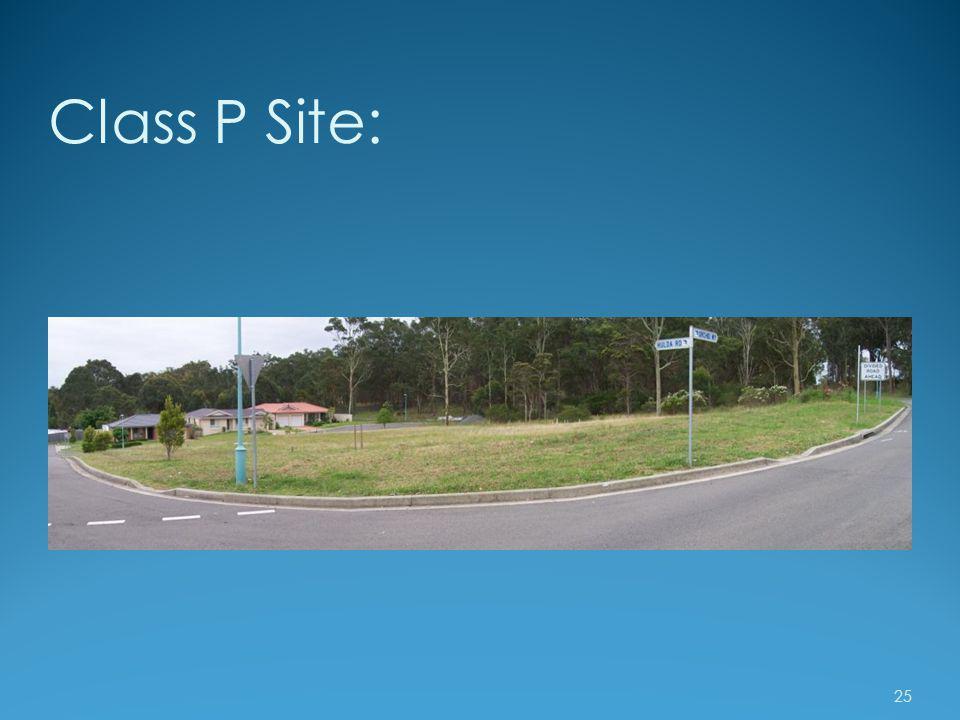 Class P Site: 25