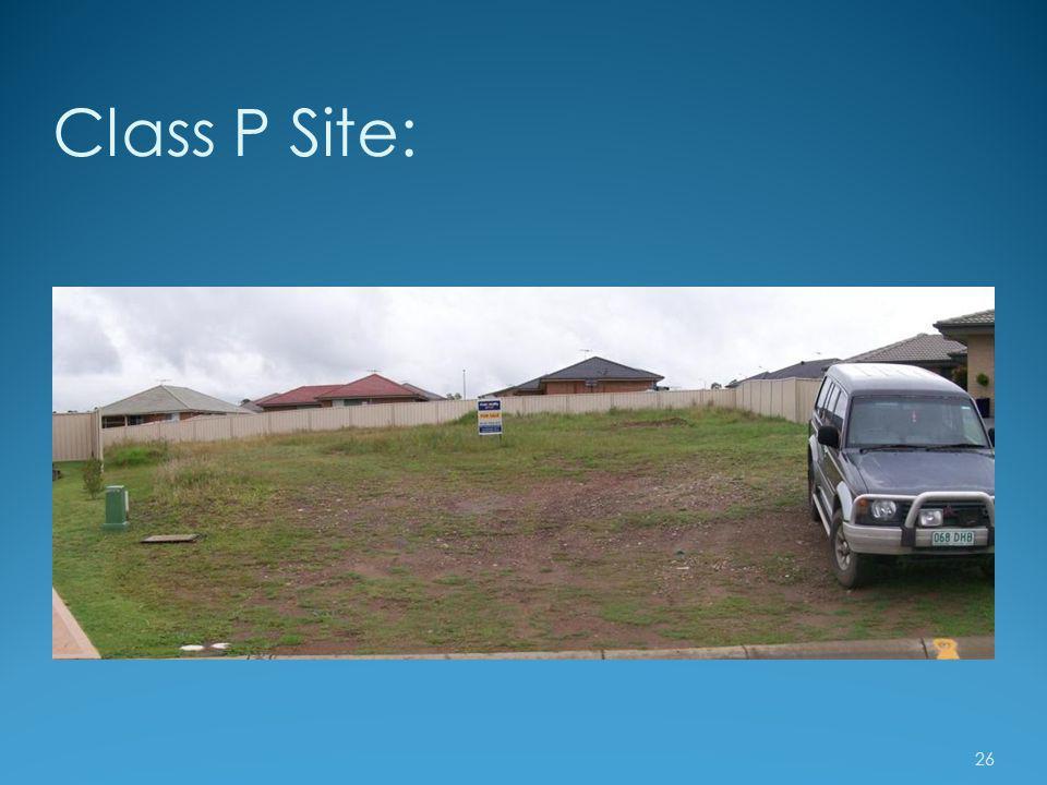 Class P Site: 26