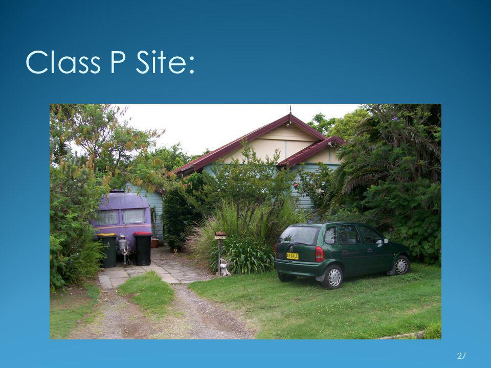 Class P Site: 27