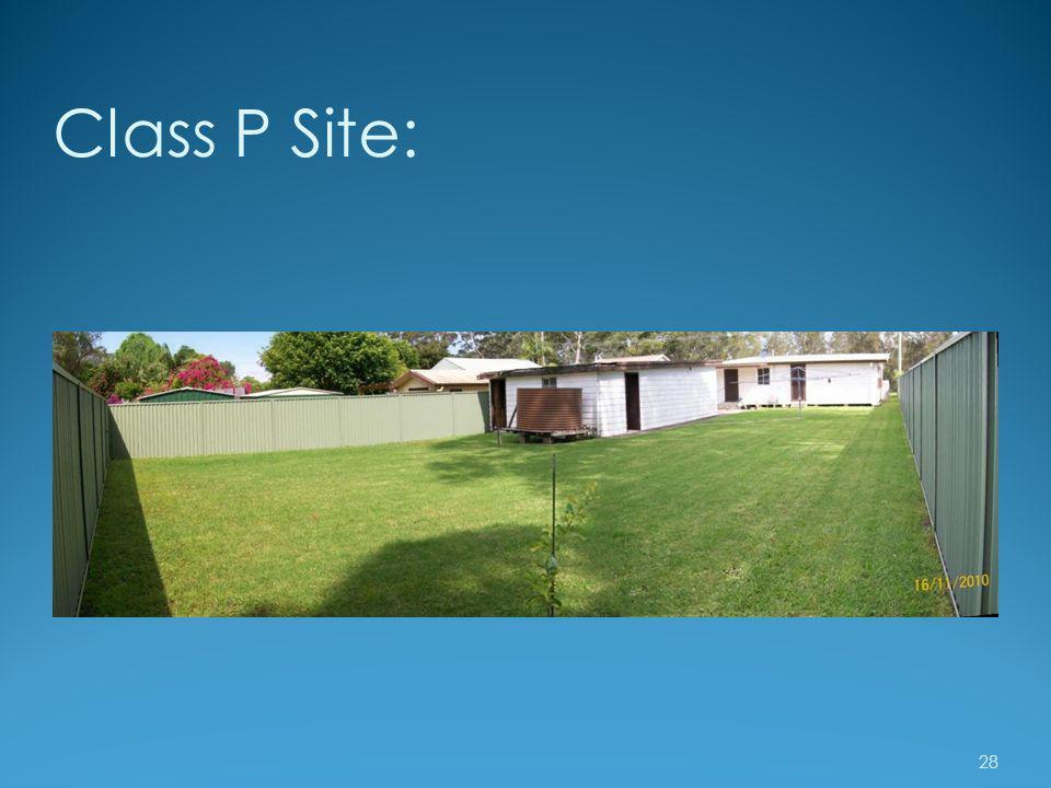 Class P Site: 28