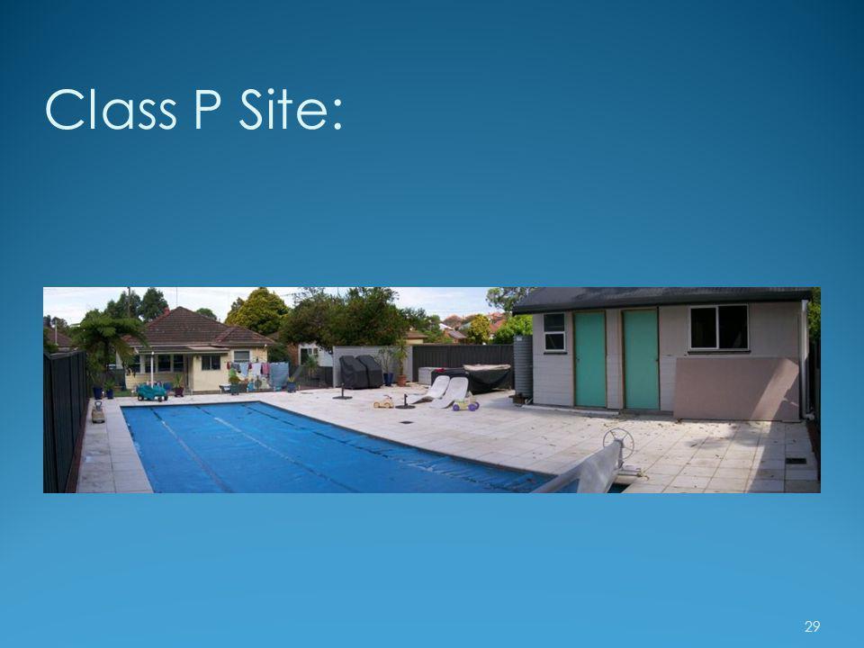 Class P Site: 29
