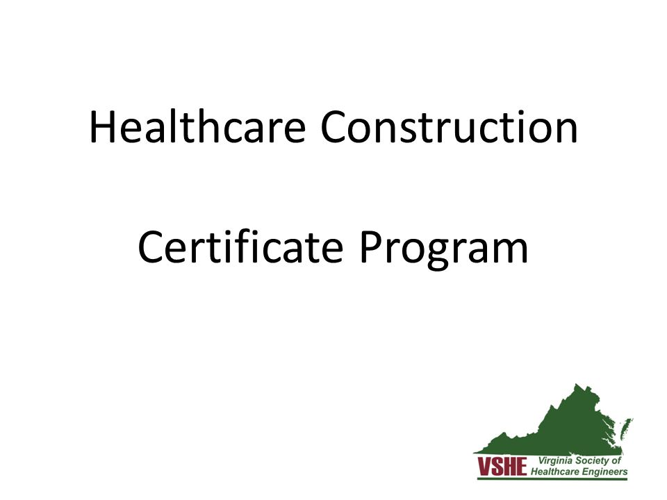 Healthcare Construction Certificate Program