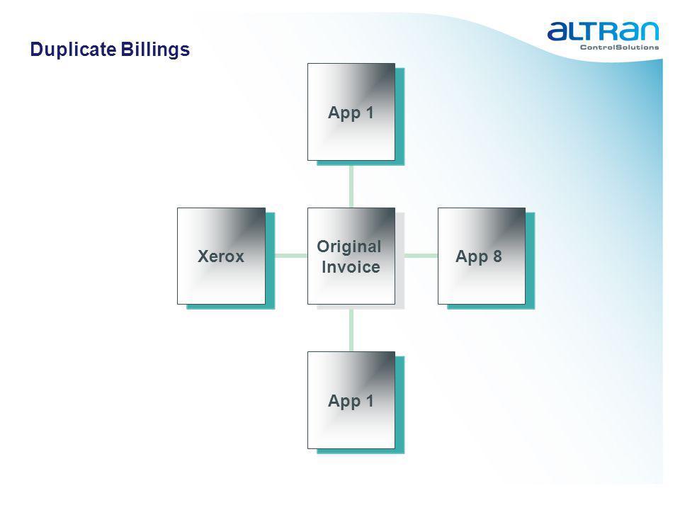 Duplicate Billings Original Invoice App 1App 8App 1Xerox