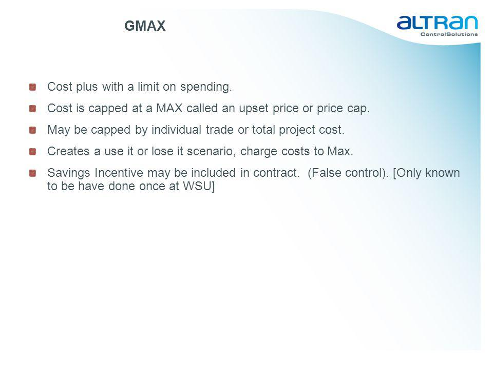 GMAX Cost plus with a limit on spending.