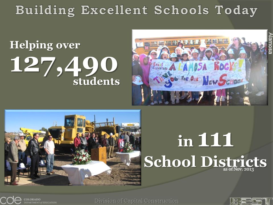 Alamosa Helping over in 111 School Districts 127,490 as of Nov. 2013 students