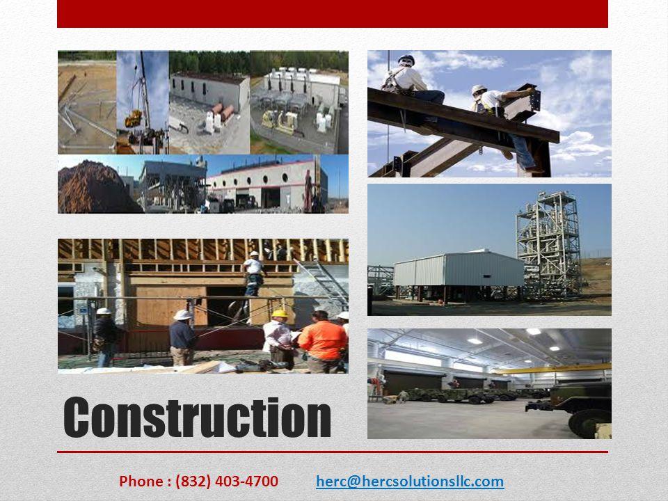 Project Management Phone : (832) 403-4700 herc@hercsolutionsllc.com