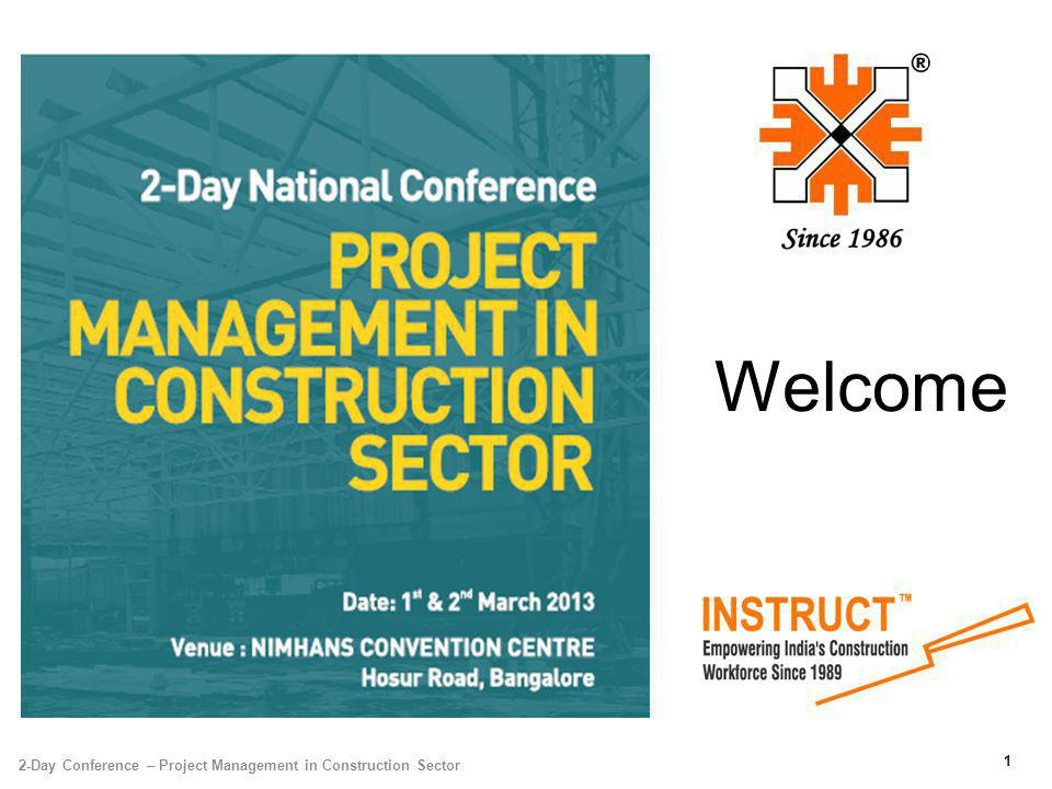 Welcome 2-Day Conference – Project Management in Construction Sector 1