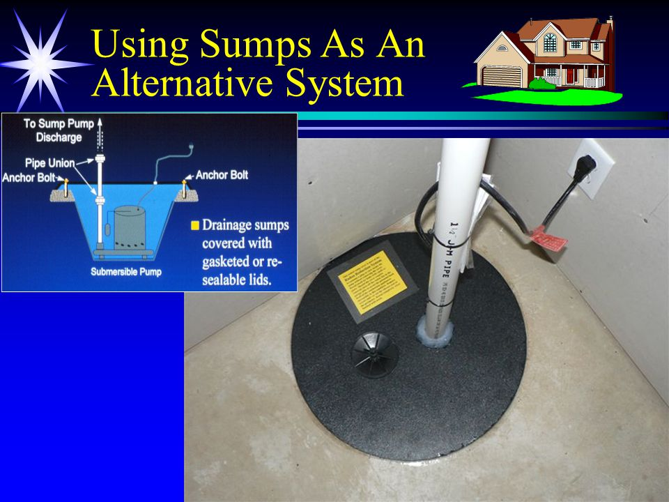 20 Using Sumps As An Alternative System