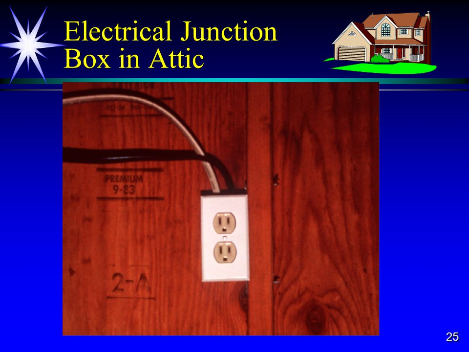 25 Electrical Junction Box in Attic