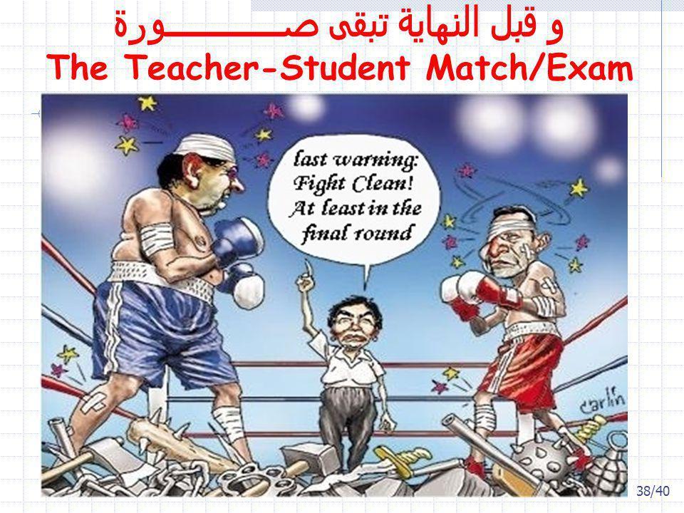 38/40 و قبل النهاية تبقى صـــــــــــــورة The Teacher-Student Match/Exam
