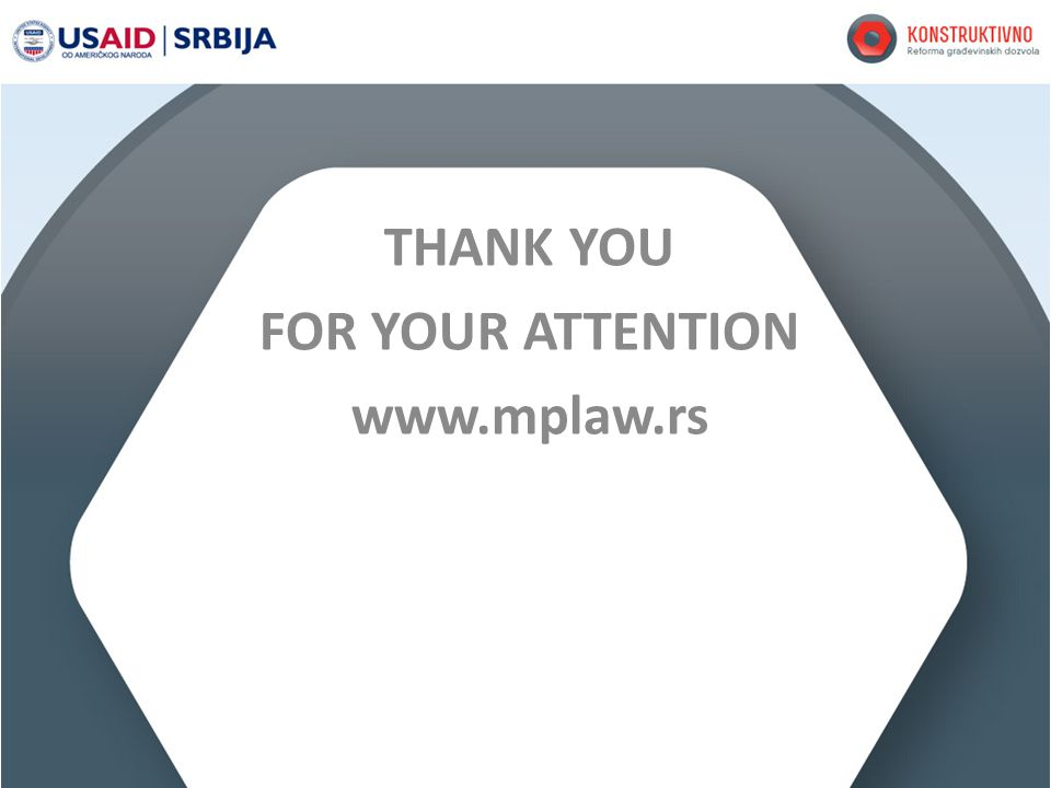 THANK YOU FOR YOUR ATTENTION www.mplaw.rs