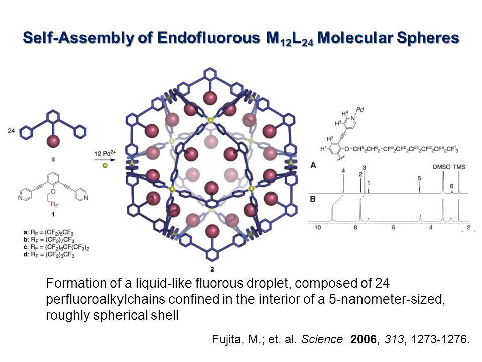Self-Assembly of Endofluorous M 12 L 24 Molecular Spheres Fujita, M.; et.