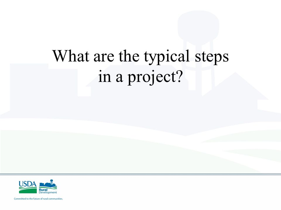 What are the typical steps in a project?