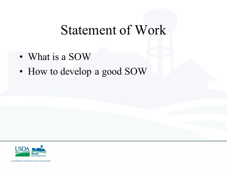 Statement of Work What is a SOW How to develop a good SOW