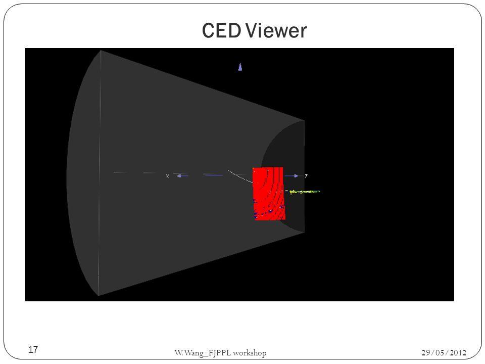CED Viewer 29/05/2012 W.Wang_FJPPL workshop 17