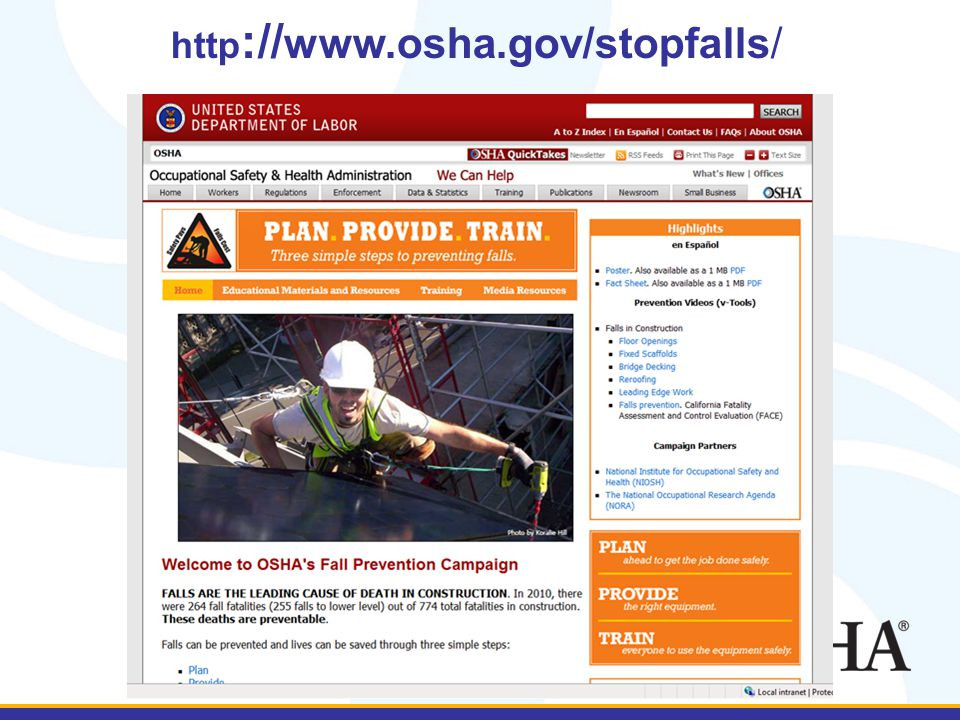 http :// www.osha.gov/stopfalls/