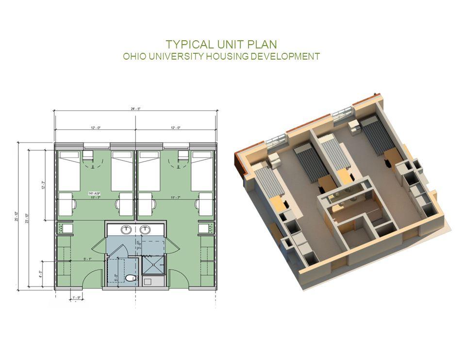 TYPICAL UNIT PLAN OHIO UNIVERSITY HOUSING DEVELOPMENT