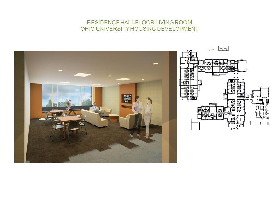 RESIDENCE HALL FLOOR LIVING ROOM OHIO UNIVERSITY HOUSING DEVELOPMENT