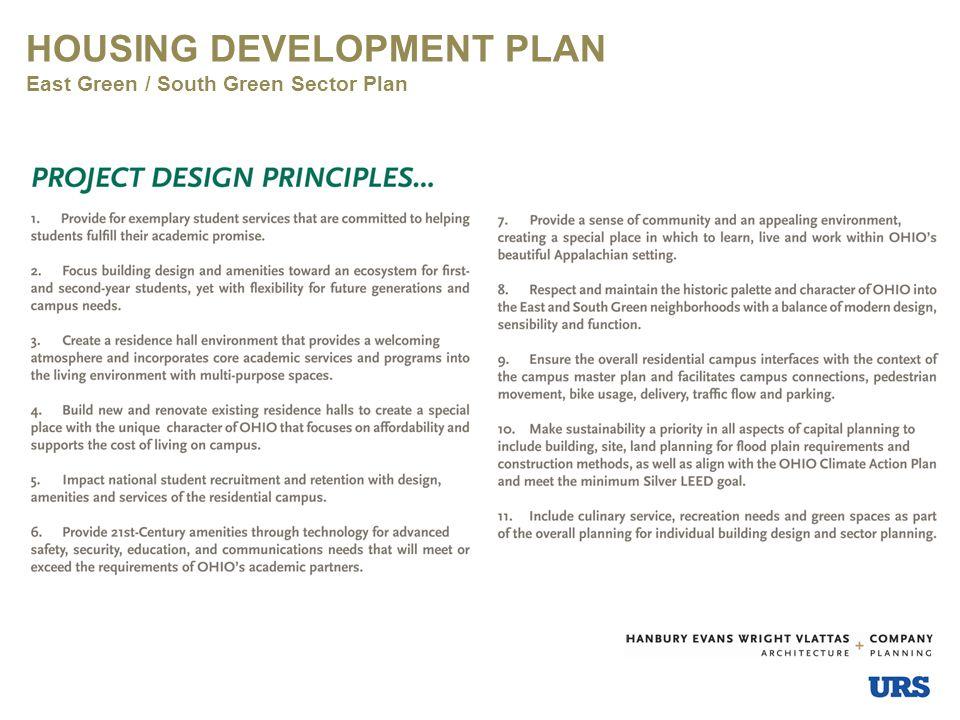 HOUSING DEVELOPMENT PLAN East Green / South Green Sector Plan