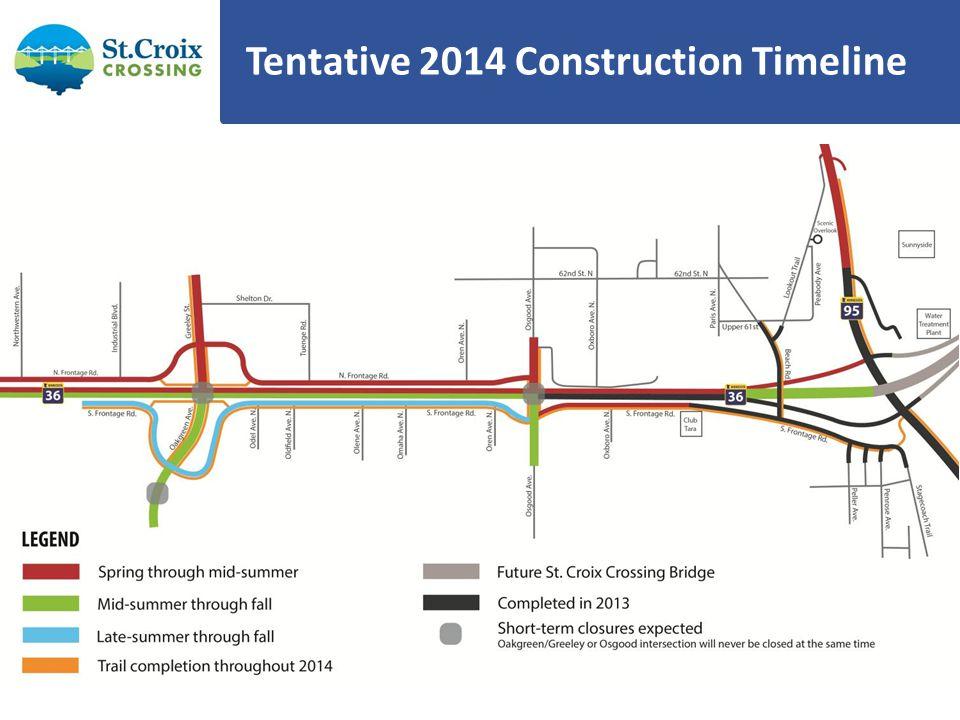 2014 Bridge Construction Begin casting segments – Approx.