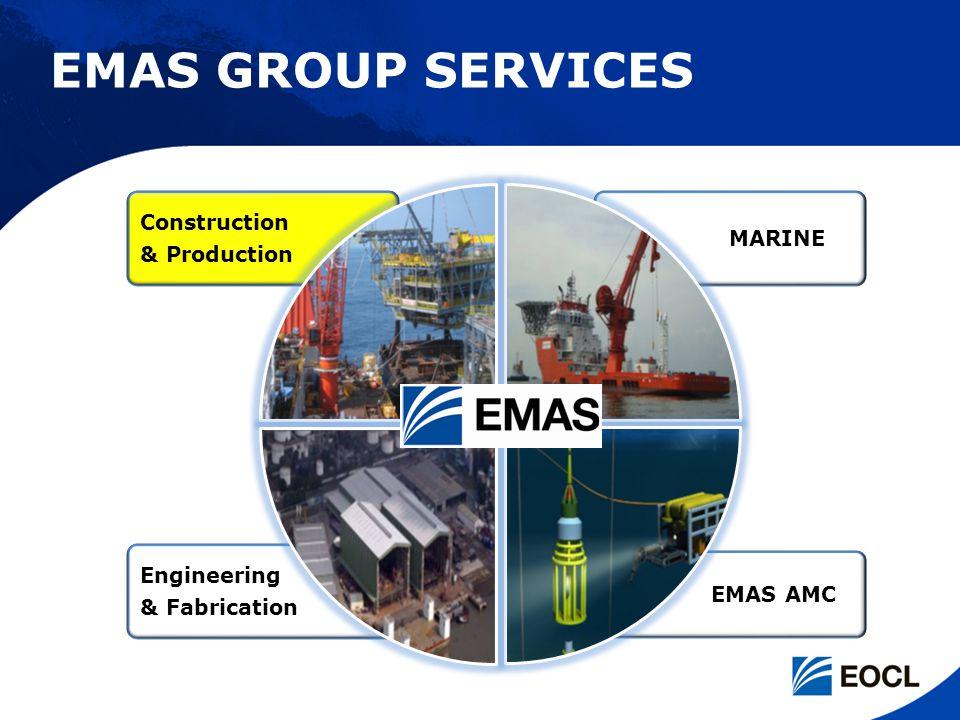 Engineering & Fabrication EMAS AMC MARINE Construction & Production EMAS GROUP SERVICES