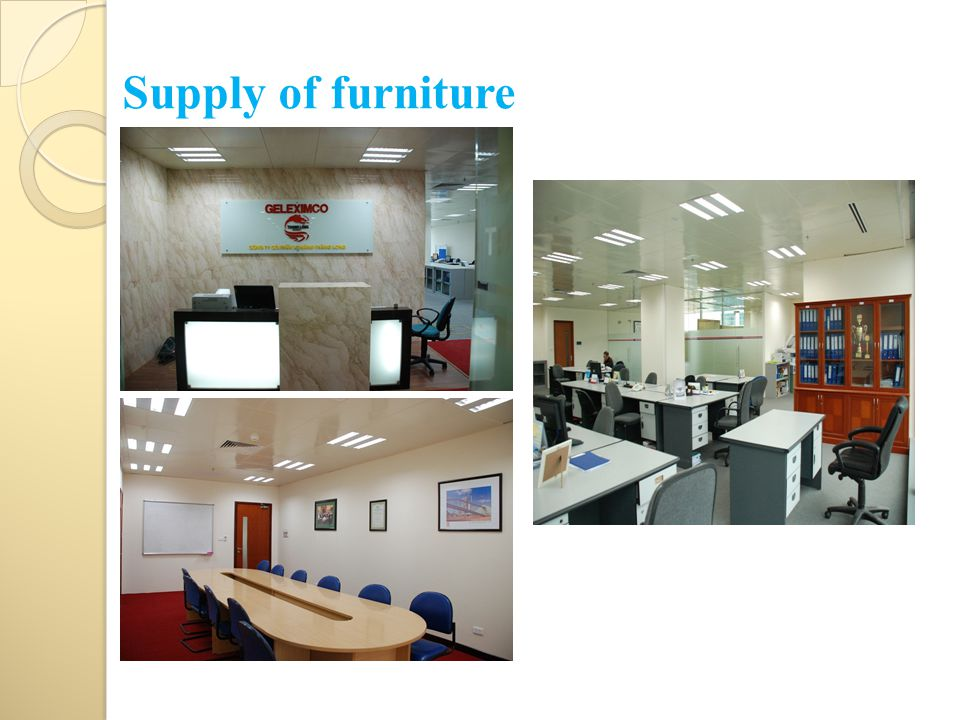 Supply of furniture