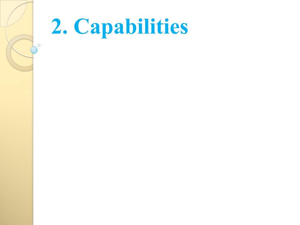 2. Capabilities