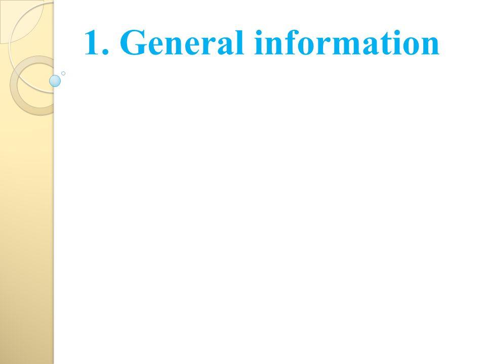 1. General information