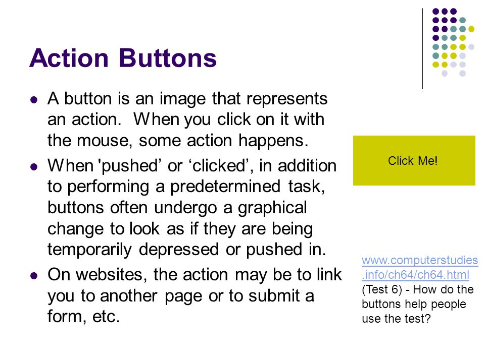Text Hyperlinks Any section of text can be used as a hyperlink to another webpage.
