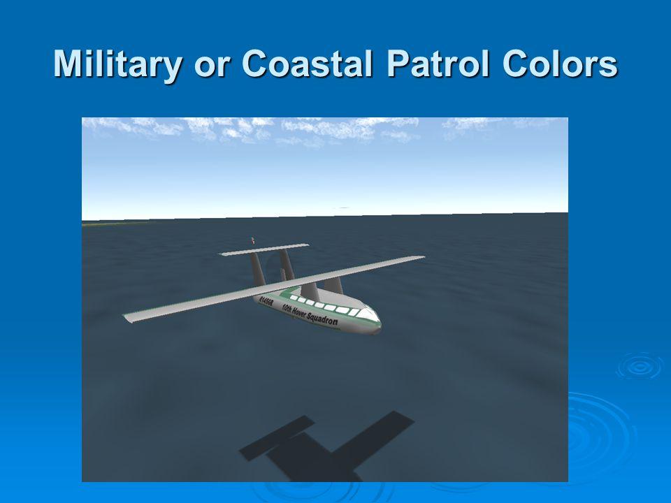 Military or Coastal Patrol Colors