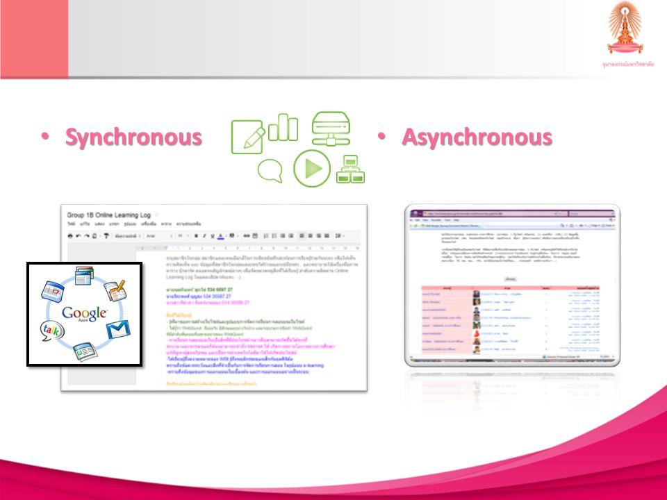 Synchronous Synchronous Asynchronous Asynchronous