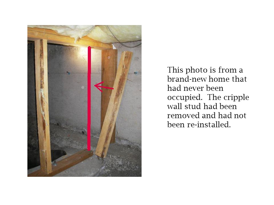 There was an approximately 4 round depression in the subfloor that had been carpeted over and was not visible from inside the house. The hole could on